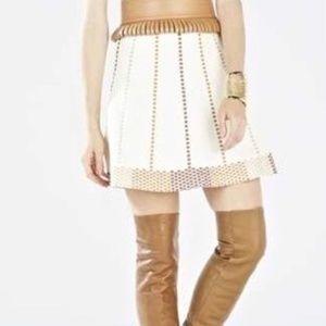bcbgmaxazria Cream/Camel Knit Fit&Flare Skirt Fall